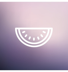 Watermelon slice thin line icon vector image