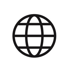web globe icon vector image