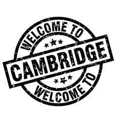 welcome to cambridge black stamp vector image