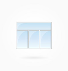 window threefold window frame eps 10 vector image