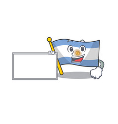 With board flag argentina cartoon shaped vector