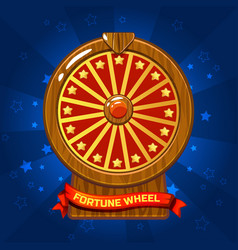 Wooden fortune wheel for ui game vector