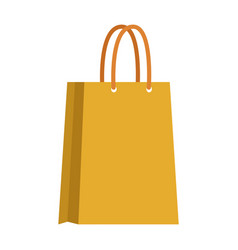 Yellow paper bag shopping empty vector