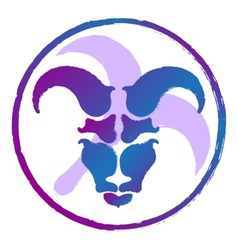 zodiac sign Aries watercolor vector image