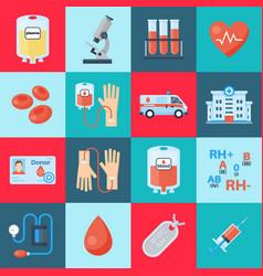 blood transfusion set vector image
