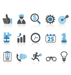 business icons setblue series vector image