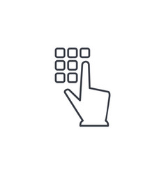 pin code keypad access security lock hand vector image