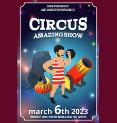 poster design of circus show magic carnival vector image vector image