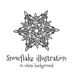 Snowflake icon on white vector image vector image