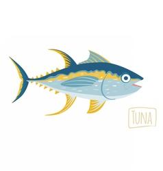 Tuna cartoon vector image vector image