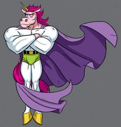 unicorn superhero vector image vector image