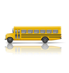 yellow school bus transportation and vehicle vector image