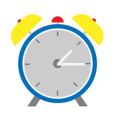 alarm clock flat design style vector image