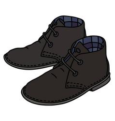 Black suede shoes vector