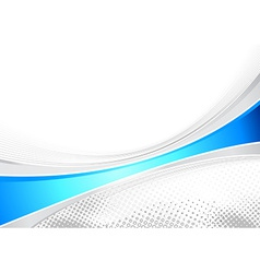 Blue business layout folder speed line vector image vector image