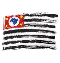 Grunge Sao Paulo flag vector image vector image