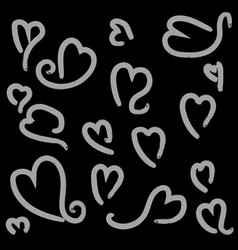 heart shape with brush painting vector image vector image