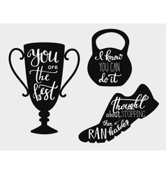 Quotes motivation for sport vector image
