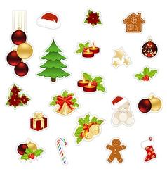christmas set big vector image vector image
