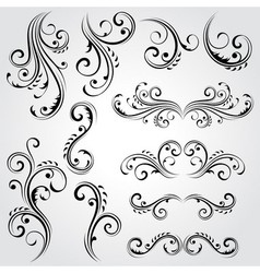 Decorative floral elements vector