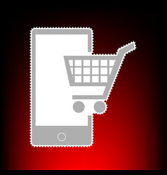 shopping on smart phone vector image