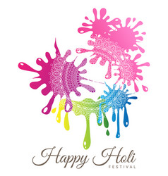 abstract colorful happy holi festival vector image vector image