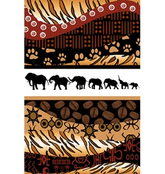 African background vector image