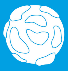 beautiful planet icon white vector image vector image