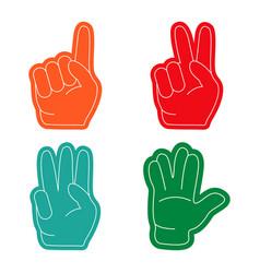 fan hand sports vector image