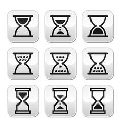 Hourglass sandglass icon set vector image vector image