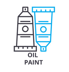 oil paint thin line icon sign symbol vector image