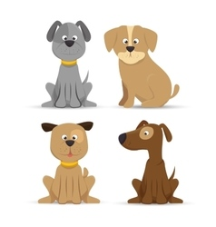 puppy dog cute design icon vector image
