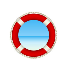 red life buoy as beach concept vector image