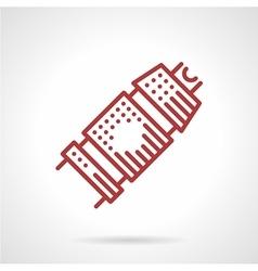 Tattoo machine grip icon vector