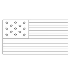13 star united states flag 1776 vintage vector