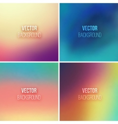 Abstract colorful blurred backgrounds set 9 vector