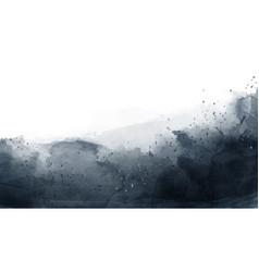 Abstract dark gray watercolor background vector