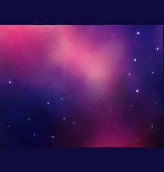 Abstract space background with stars nebula vector