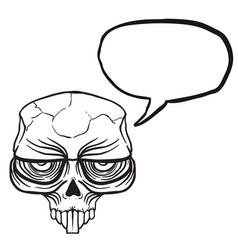Alien skull bubble black vector