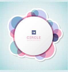 banner white circle round label with pastel vector image