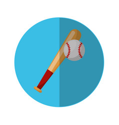 Baseball bat isolated icon vector