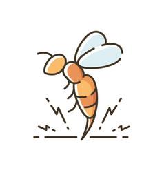 Bee venom rgb color icon vector