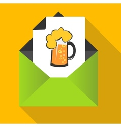 Beer concept with mug on a letter background vector image