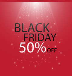 Black friday black fog and light on red background vector