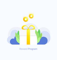 bonus loyalty program concept vector image