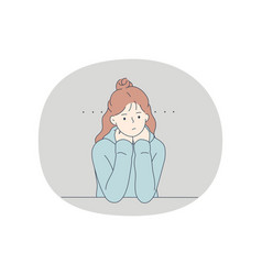 boredom laziness negative emotions concept vector image