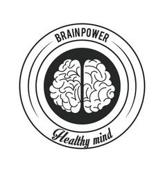 brain power emblem vector image