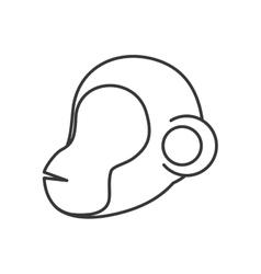 Cartoon monkey icon Cute animal design vector