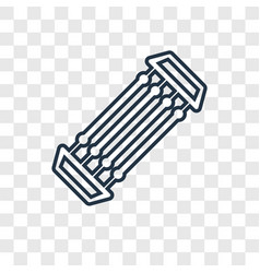 Chest expander concept linear icon isolated on vector