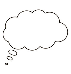 comic speech bubbles icon flat design style vector image